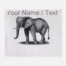 Custom African Elephant Throw Blanket