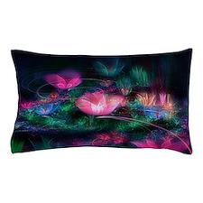 Fairy Flowers Floral Pillow Case