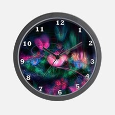 Fairy Flowers Wall Clock