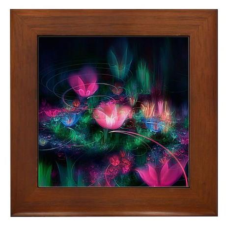 Fairy Flowers Framed Tile