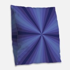 Blue Illusion Burlap Throw Pillow