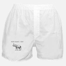 Custom Elephant Sketch Boxer Shorts