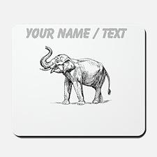 Custom Elephant Sketch Mousepad