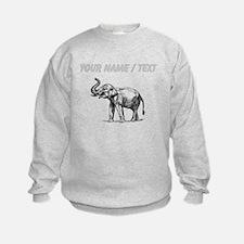 Custom Elephant Sketch Sweatshirt