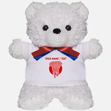 Custom Stylized Red Elephant Teddy Bear