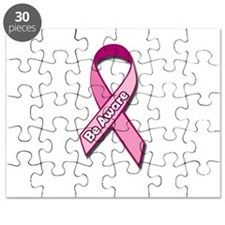 Breast Cancer Awareness Pink Ribbon Aware Puzzle