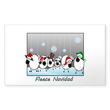 Fleece Navidad Sticker