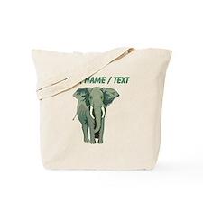 Custom African Elephant Tote Bag