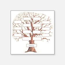 "Family Tree Square Sticker 3"" x 3"""