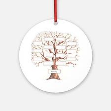 Family Tree Round Ornament