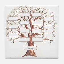 Family Tree Tile Coaster