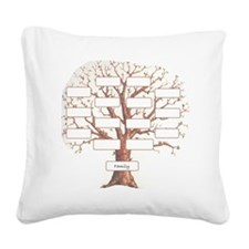 Family Tree Square Canvas Pillow