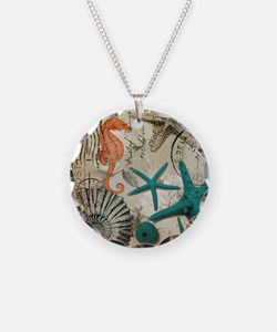 nautical seashells beach dec Necklace