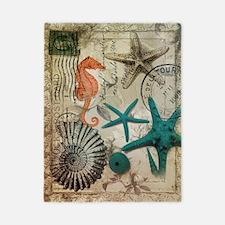 nautical seashells beach decor Twin Duvet