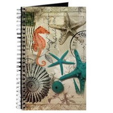 nautical seashells beach decor Journal