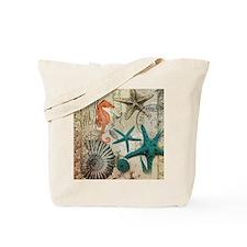 nautical seashells beach decor Tote Bag