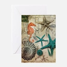 nautical seashells beach decor Greeting Card