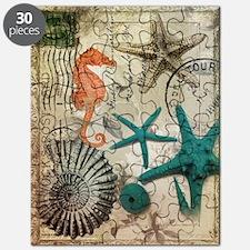 nautical seashells beach decor Puzzle