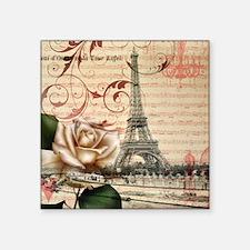 """vintage eiffel tower paris Square Sticker 3"""" x 3"""""""