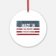 Made in Milton Village, Massachuset Round Ornament