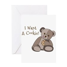 I Want a Cookie Greeting Cards