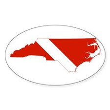 North Carolina Diver Decal