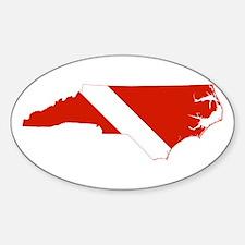 North Carolina Diver Decal