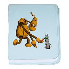 Robot & Bunny baby blanket