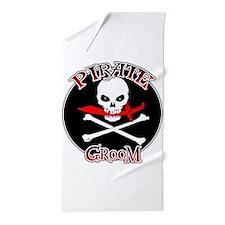 Pirate Groom Beach Towel