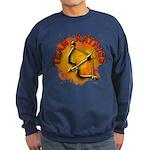 Team Katniss Catching Fire Sweatshirt (dark)