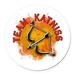 Team Katniss Catching Fire Round Car Magnet