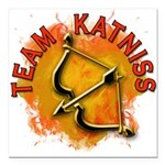 Team Katniss Catching Fire Square Car Magnet 3