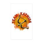 Team Katniss Catching Fire Sticker (Rectangle 10 p