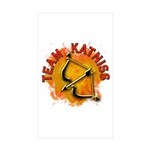 Team Katniss Catching Fire Sticker (Rectangle 50 p