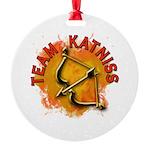 Team Katniss Catching Fire Round Ornament