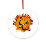 Team Katniss Catching Fire Ornament (Round)