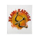 Team Katniss Catching Fire Throw Blanket