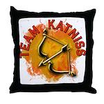 Team Katniss Catching Fire Throw Pillow