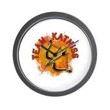 Team Katniss Catching Fire Wall Clock
