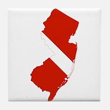 New Jersey Diver Tile Coaster
