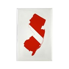 New Jersey Diver Rectangle Magnet