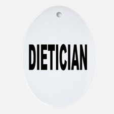 Dietician Oval Ornament