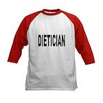 Dietician (Front) Kids Baseball Jersey