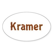 Kramer Fall Leaves Oval Decal