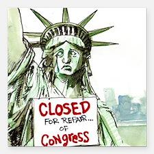 Lady Liberty Closed 4 Congress Square Car Magnet 3