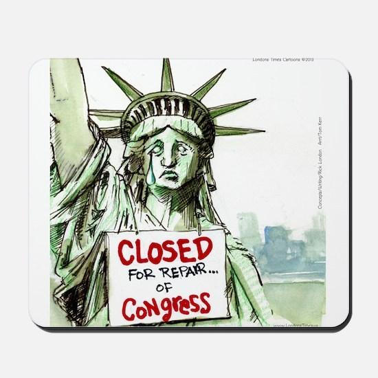 Lady Liberty Closed 4 Congress Mousepad