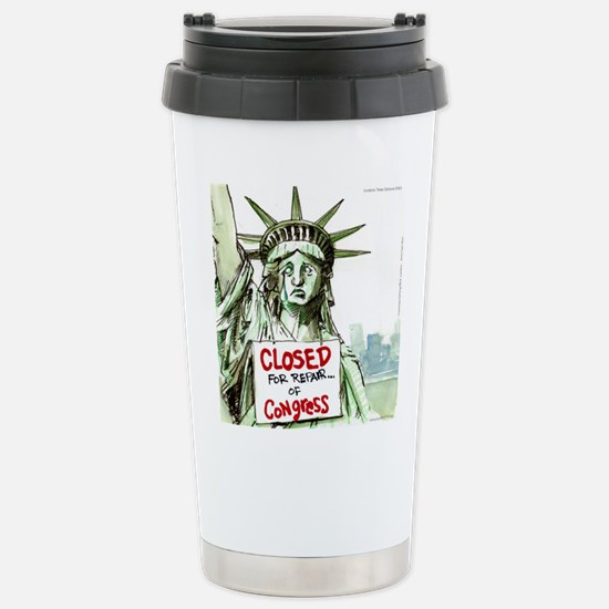 Lady Liberty Closed 4 Congress Travel Mug
