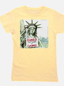Lady Liberty Closed 4 Congress Girl's Tee