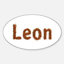 Leon Fall Leaves Oval Decal