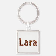 Lara Fall Leaves Square Keychain